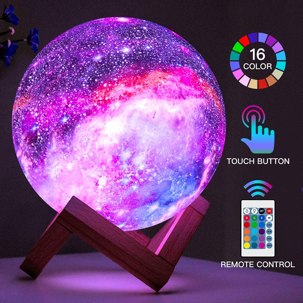 Night Lamp – 3D Print Rechargeable Moon Lamp