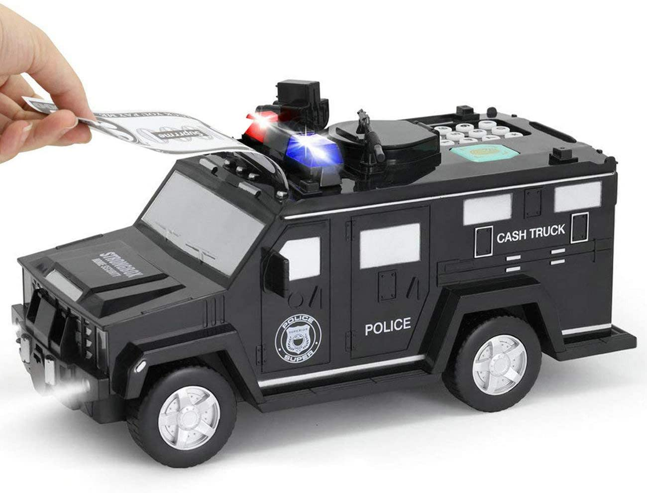 Police Car Piggy Bank with Password